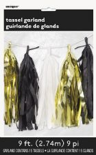 Gold/White/Black Tassel Garland Decoration